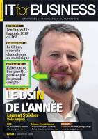 """IT for Business"" No 2224 Janvier 2018, Couverture, ""L'alternative PostgreSQL poussée par les grands comptes"""